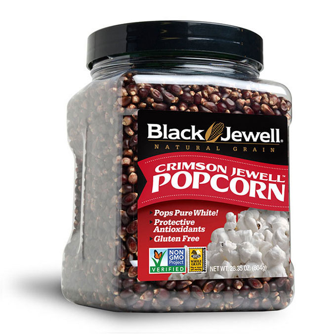 Black Jewell Crimson Jewell Popcorn Jar
