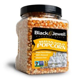 Black Jewell Mayan Gold Popcorn Jar
