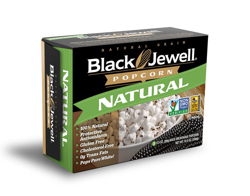 Microwave Black Jewell Popcorn – Natural