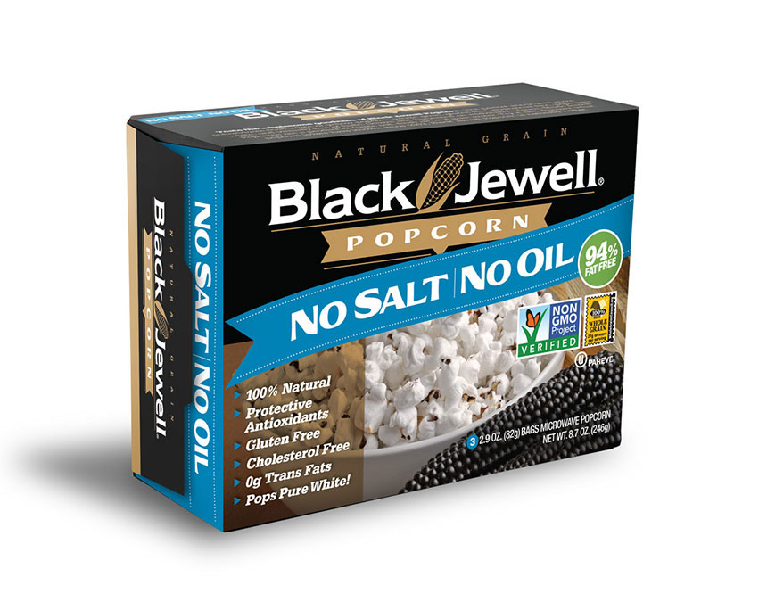 Black Jewell No Salt No Oil Microwave Popcorn