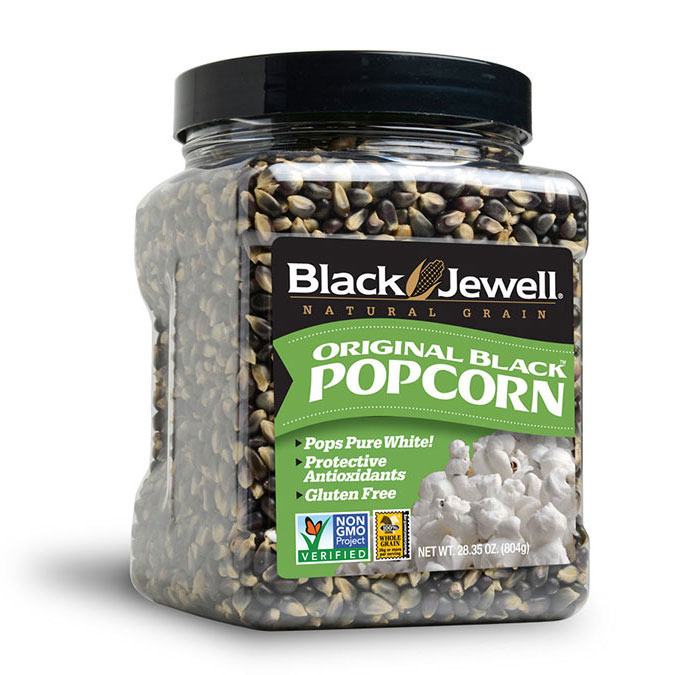 Black Jewell Natural Popcorn Jar
